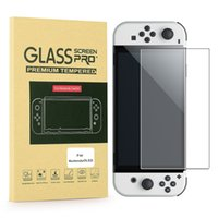 """Clear Screen Protector For Nintendo OLED Switch Model 2021 7"""" NS Lite ARC Edge Tempered Glass With Retail Package Box"""