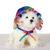 Summer Pet Dog Cute Cartoon Hat Cap Lace Headwears Caps For Small Dogs Cats Sun Accessories Supplies Po Shading Apparel