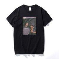 Дрейк и Трэвис Скотт Винтаж Стиль футболки для мужчин Новое Прибытие Harajuku Streetwear Rapper Thirts 100% Хлопок Футболка ЕС Размер
