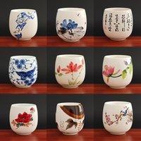 Mugs 1pcs 3pcs China Ceramic Tea Cup White Porcelain Cups Pottery With Handle Drinkware Wine Coffee Mug Teacup Wholesale