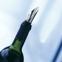 Bar Tools Wine Stopper Pourers Stainless Steel Wine Funnel Bottle Pourer Cap Bar Tools DH5487