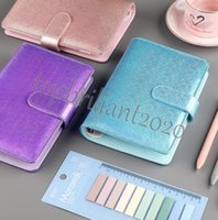 A6 Colorful Macarons Binder Notebook Creative Waterproof Hand Ledger Shell Loose-leaf Notepad Diary Stationery Cover School Office