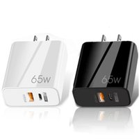 65W Super Fast Quick Charge Eu US UK PD 2Ports Wall Charger Type c USB-C Power Adapters For Iphone x xr 12 13 Pro Max Samsung Tablet PC Android Phone With Box