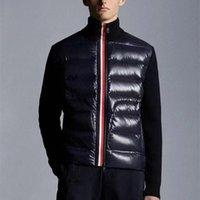 021 França Alta Qualidade Mens Down Jacket Letra de malha Mulheres Parkas Painel Casual Casacos Bomber Jackets Designers Men S Roupas