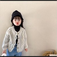 Cardigan Autumn Winter Cute Girls Fashion Twisted Knitting Cardigans Children 3 Colors Loose Singlebreasted Sweater 201126 Cu4Me Iqy5J