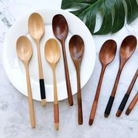 Spoons Natural Wooden Soup Teaspoon Catering Kids Spoon Kitchenware For Rice Kitchen Cooking Utensil Tool Tea Tableware