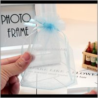 Pouches, Jewelry100Pcs Lot 5*7Cm Light Blue Organza Bags Wedding Pouches Jewelry Aessories Packaging & Display Nice Gift Bag Drop Delivery 20