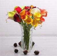 Mini Calla Lily için Düğün Buketi Yapay Çiçek Gerçek Dokunmatik Ev Düğün Parti için HP008 DSF0543