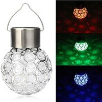Party Favor Solar LED Hanging Light Lantern Waterproof Hollow Out Ball Lamp for Outdoor Garden Yard Patio Decoration Holiday