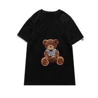 Стилист для волос Друзья мужские женские дизайнерские футболки высококачественные медведь печать черно-белая одежда S-XXL G11