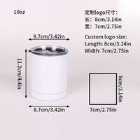 10oz Double Wall Stainless Steel Blank Sublimation Coffee Mug Cups Heat Transfer Wine Tumbler Cup sea shipping KKB7911