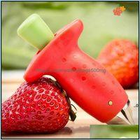 Vegetable Kitchen, Dining Bar Home & Gardenstberry Stem Leaf Leaves Hler Remover Tools Removal Fruit Corer Tool Kitchen Gadgets Cutter Red C