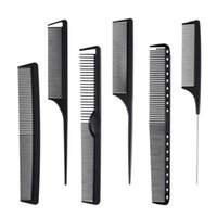 Hair Brushes Carbon Fiber Combs Set, General Styling Grooming Comb, Anti Static Heat Resistant Hairdressing Comb 6 Pack