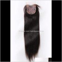 Saç atkılar 8A ipek taban üst kapatma 354 inç doğal düz brzilian bakire insan kılları kadınlar için mo0zw vnchq