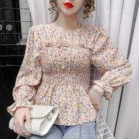 Women's Blouses & Shirts Blouse Women Shirt 2021 Beaded Chiffon Top Long Sleeve Blusas Mujer De Moda