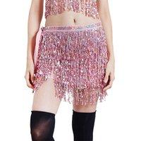 Танцевальная танцевальная одежда Талия цепи Индийские танцы блестки кисточки красочные ягодичные полотенце ночной клуб Показать сексуальные леди Bellies цепи 22BD B3