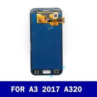 سعر المصنع الأصلي LCD لسامسونج غالاكسي A3 2017 A320 A320F كامل شاشة LCD مع شاشة تعمل باللمس محول الأرقام الجمعية كاملة