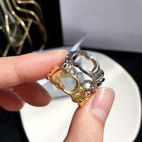 D Designer de luxe de luxe Let-lettre Ouverture Réglable Anneau Reteur Net Célébrité All-Match Love Anneaux Fashion H bijoux avec boîte