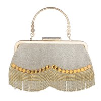 2021 Rhinestone Tassel Pearl Lady Dinner Bag Small Dress Portable Party