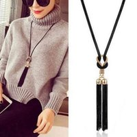 Lusão preta cadeia arco borla boho gargantilha colar mulher colar de cor colar longo colares de moda acessórios de moda bijoux hot y0309