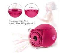 2021Rose Flower Clitoris Stimulation Vibrator with 7 Intense Suction Masturbator Clitoral Brush Breast Massage Vibrating Sex Toys For Women