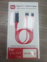 USB 3.1 Tip C için HDMI 2 M Kablo Adaptörü Dönüştürücü Ultra HD 1080 P 4 K HDTV Video Kabloları Samsung S10plus S8 S20 U için