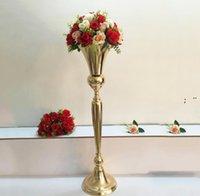 98cm alto vintage vaso vaso vaso festa decoração metal trompete casamento cerimônia de casamento aniversário decorações hhf11121
