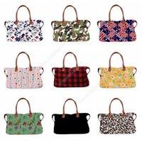 17inch plaid Floral Leopard Duffel Bag 32styles Big Travel camouflage camo Tote animal print handbag Double Handles Weekenders Bag DHP34