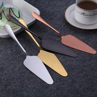 Coloridas herramientas de pastel de acero inoxidable Pala con servidor de borde SERRATED Blade Cutter Pie Pizza Spatula Herramienta de hornear FWE6542