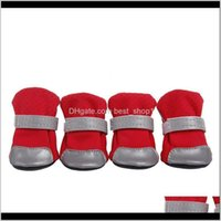 Supplies Home & Gardenventilate Shoes Boots With Safe Reflective Stripe Soft Shoe Sole Comfortable Dog Apparel For Teddy Bichon Pet Ewc1043