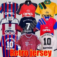 96 97 98 99 00 14 Bayern Munich Finals Retro Jerseys Final Elber Zickle Effenberg Pizarro Scholl Matthaus Klinsmann 축구 셔츠 1995 2001