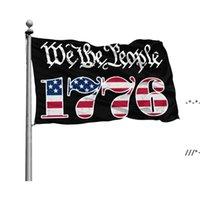 Wij de mensen Betsy Ross 1776 3x5ft vlaggen 100D Polyester Banners Indoor Outdoor Levendige Kleur Hoge Kwaliteit met twee Messing Grommets NHD9159