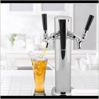 Barware Küche, Essen Hausgarten Drop Lieferung 2021 Trinken TRING QUALITY Edelstahl Bierturm Wasserhahn Doppelköpfiges Tap Easy i