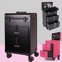 Prinzessin Nagel Trolley Koffer Kosmetische Muster Stickerei Toolbox Aufbewahrung Gepäckprofise Box Makeup Salon Fall Koffer
