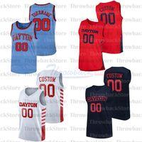 Custom Dayton Flyers College Basketball Jerseys 0 Rodney Chatman 1 Obi Toppin 2 Ibi Watson 31 Jeury Matos 32 Jordy Tshimanga
