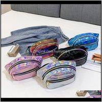 5Styles Punk Laser Waist Bags Outdoor Fanny Pack Pouch Hip Purse Pu Holographic Girls Women Shoulder Messenger Crossbody Bag Ffa2115 S Rxqlg