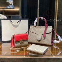 Diseñador moda mujer bolsas de hombro de lujo bolso de tres piezas bolso de mano de cuero genuino diseño de patrón clásico de diseño súper gran capacidad de alta calidad regalos 05