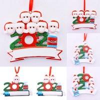 26 estilos 2021 Ornamento de Natal DIY nome de bênção máscara de neve personalizado árvore de natal pingente de suspensão