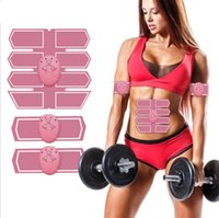 Smart Fitness Electric EMS Мышечный стимулятор ABS Брюшной полости Мышцы мышц Тонера Тело Фитнес Фитнес Формирование Массаж Патч Силимирующий Тренаж Упражнения Унисекс