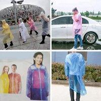 3000 adet / grup Tek Kullanımlık PE Yağmurluk Yetişkin Bir-Kez Acil Su Geçirmez Hood Panço Seyahat Kamp Yağmur Coat Açık Rainwear RA4289