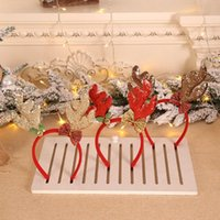 Saç Aksesuarları Komik Sevimli Karikatür Santa Bells Yay Elk Noel Band Dekorasyon Boynuzları Kafa Bandı Kadın Peluş Çember