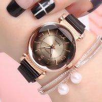Designer Luxury Marca Relógios Ury Moda Mulheres Geométricas Numeral Quartz Quartz Ladies Ímã Fivela Malha Alta Pulso Ouro Reloj Mujer