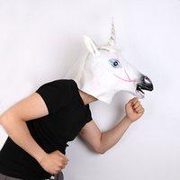 Masquerade Party Mask colorato Unicorn Mask Maschera Cavallo Maschera Halloween Unicorno Animale