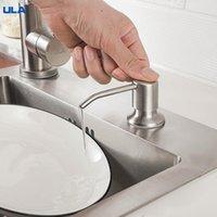 Dispensador de sabão líquido Ula Aço Inoxidável 250ml Hand Sanitizer Sanitizer Detergente Bomba De Armazenamento PE Frasco