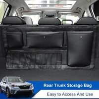 Car Organizer QHCP Trunk Storage Bag Seat Back Pads Stowing Tidying Microfiber Leather For Forester 2021