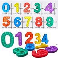 Número 0-9 Push Bubble Autism New Fidgets Toys Anit-Step Soft Sensor Regalos Reutilizable Squeeze Toys Stress Reliever Board Games FWF7339