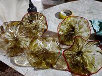 Самый прекрасный стиль Art Deco ручной работы извилистые стеклянные пластины лампы необработанные светодиодные декоративные настенные огни Индия Свадебный декор Освещение