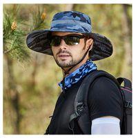 Outdoor Hats Summer Fishing Hat Man Women Wide Breathable Mesh Cap Beach Sun Men's Outdoors UV Protection Unisex Shade