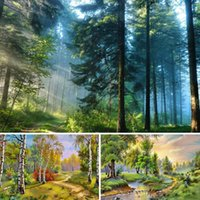 Diamond Painting 5D DIY Landscape Cross Stitch Kit Full Drill Embroidery Forest Nature Mosaic Art Picture Of Rhinestones Decor