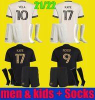 2021 2022 La Lafc Vela Soccer Jersey Bénédiction 21 22 Rossi Kaye Moon-Hwan Los Angeles FAC Football Shirts Hommes Kit Kit Enfants Uniformes